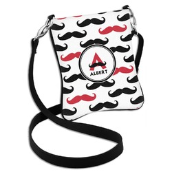 Mustache Print Cross Body Bag - 2 Sizes (Personalized)