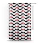 Mustache Print Curtain (Personalized)