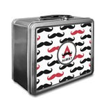Mustache Print Lunch Box (Personalized)