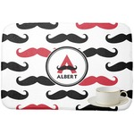 Mustache Print Dish Drying Mat (Personalized)