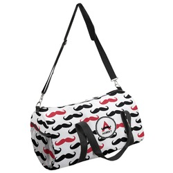 Mustache Print Duffel Bag (Personalized)
