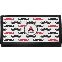 Mustache Print Canvas Checkbook Cover (Personalized)