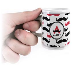 Mustache Print Espresso Cups (Personalized)