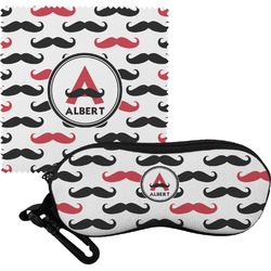 Mustache Print Eyeglass Case & Cloth (Personalized)