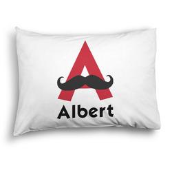 Mustache Print Pillow Case - Standard - Graphic (Personalized)