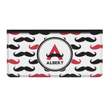 Mustache Print Genuine Leather Checkbook Cover (Personalized)