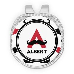 Mustache Print Golf Ball Marker - Hat Clip