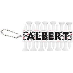 Mustache Print Golf Tees & Ball Markers Set (Personalized)
