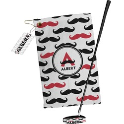 Mustache Print Golf Towel Gift Set (Personalized)