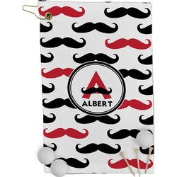 Mustache Print Golf Towel - Full Print (Personalized)