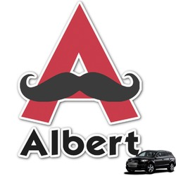 Mustache Print Graphic Car Decal (Personalized)