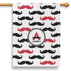 """Mustache Print 28"""" House Flag (Personalized)"""
