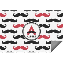 Mustache Print Indoor / Outdoor Rug - 6'x9' (Personalized)