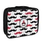 Mustache Print Insulated Lunch Bag (Personalized)