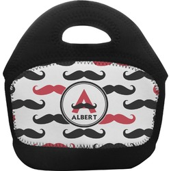 Mustache Print Toddler Lunch Tote (Personalized)