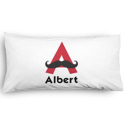 Mustache Print Pillow Case - King - Graphic (Personalized)