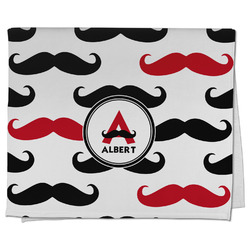 Mustache Print Kitchen Towel - Full Print (Personalized)