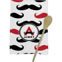 Mustache Print Kitchen Towel - Full Print (Personalized)