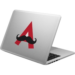 Mustache Print Laptop Decal (Personalized)