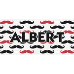 Mustache Print Front License Plate (Personalized)