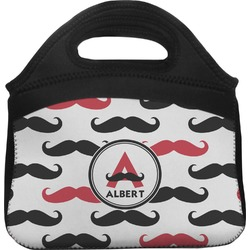 Mustache Print Lunch Tote (Personalized)