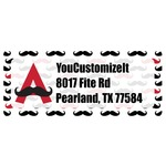 Mustache Print Return Address Labels (Personalized)
