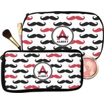 Mustache Print Makeup / Cosmetic Bag (Personalized)