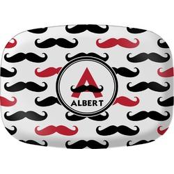 Mustache Print Melamine Platter (Personalized)