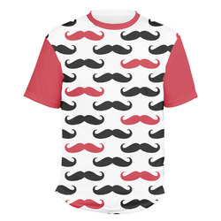 Mustache Print Men's Crew T-Shirt (Personalized)