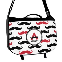 Mustache Print Messenger Bag (Personalized)