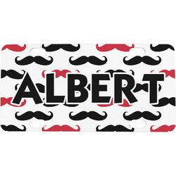 Mustache Print Mini / Bicycle License Plate (Personalized)