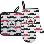 Mustache Print Oven Mitt & Pot Holder (Personalized)