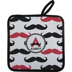 Mustache Print Pot Holder w/ Name and Initial