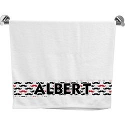 Mustache Print Bath Towel (Personalized)