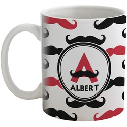 Mustache Print Coffee Mug (Personalized)