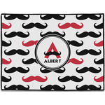 Mustache Print Door Mat (Personalized)