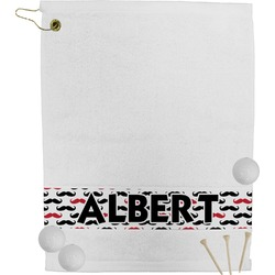 Mustache Print Golf Towel (Personalized)