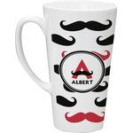 Mustache Print Latte Mug (Personalized)