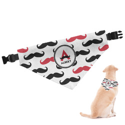 Mustache Print Dog Bandana - Large (Personalized)