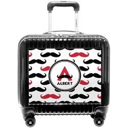 Mustache Print Pilot / Flight Suitcase (Personalized)