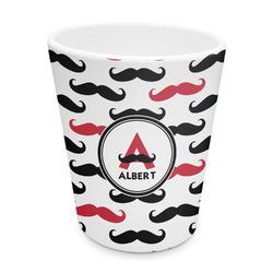 Mustache Print Plastic Tumbler 6oz (Personalized)