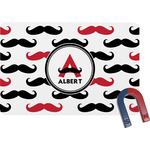Mustache Print Rectangular Fridge Magnet (Personalized)