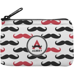 Mustache Print Rectangular Coin Purse (Personalized)