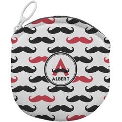 Mustache Print Round Coin Purse (Personalized)
