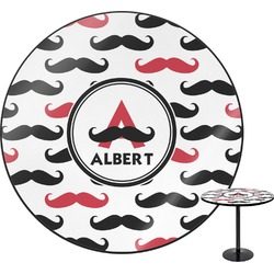 Mustache Print Round Table (Personalized)