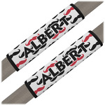 Mustache Print Seat Belt Covers (Set of 2) (Personalized)