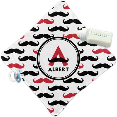 Mustache Print Security Blanket (Personalized)