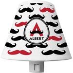 Mustache Print Shade Night Light (Personalized)
