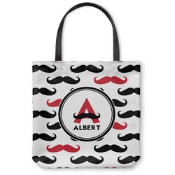 Mustache Print Canvas Tote Bag (Personalized)