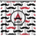Mustache Print Shower Curtain (Personalized)